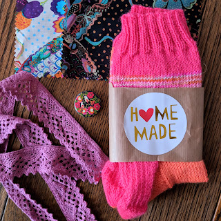 home made hand knitted socks