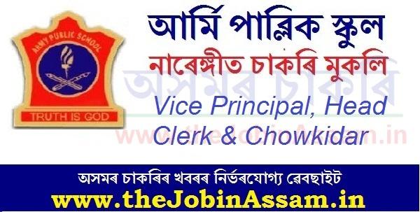 Army Public School Narangi Recruitment 2020