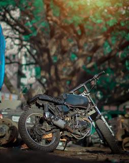 Bike New Green Tone CB Background Free Stock