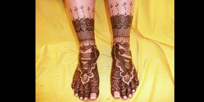 Rajasthani  mehendi designs for feet