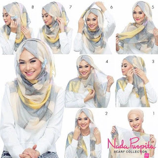 tutorial hijab segi empat sederhana terbaru