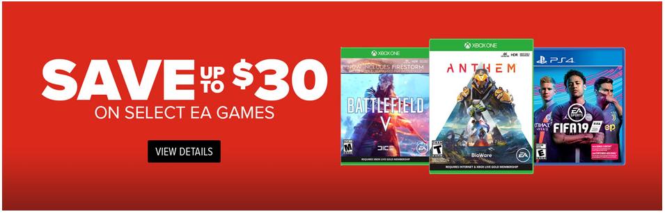 GameStop Deals: Save on EA games