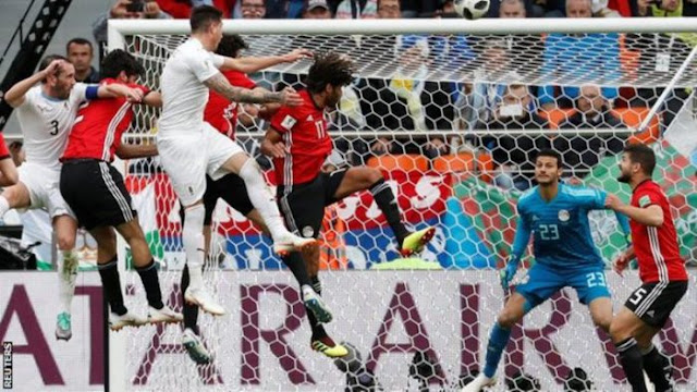 #Worldcup: Uruguay Defeats Egypt 1 – 0