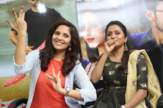 Actress Suma in Black Salwar Suit and Anusuya in orange Dress at winner movie press meet part 2 February 2017 (91).JPG