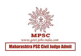 Maharashtra PSC Civil Judge Admit Card 2020