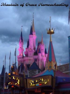 Cinderella's Castle at Dusk