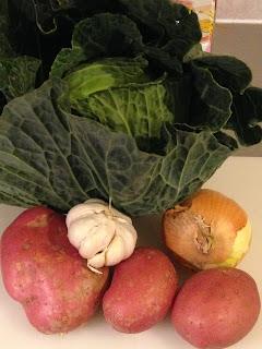 Caldo Verde Portugués, ingredientes