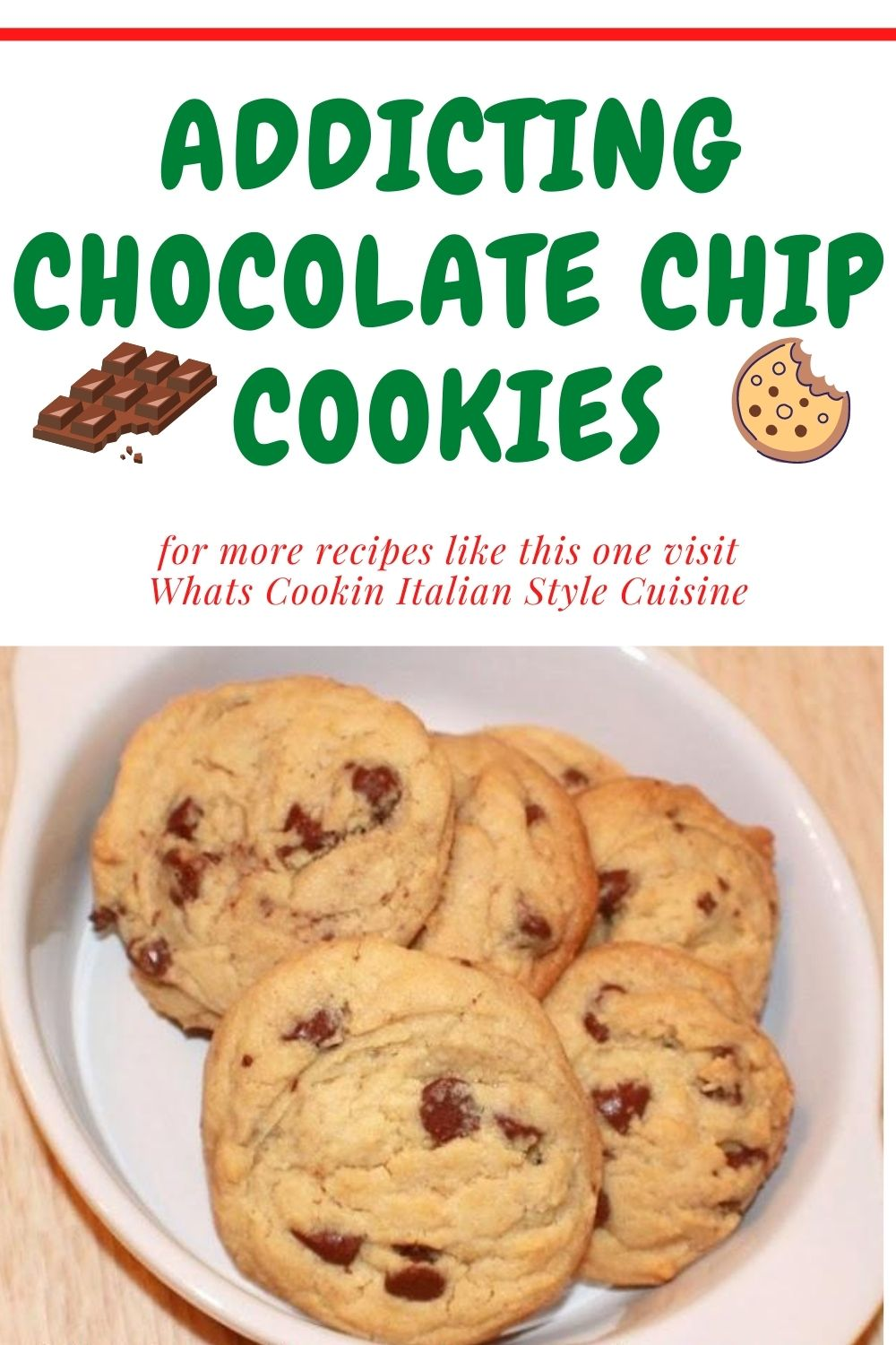 this is a pin for later for addicting chocolate chip cookies
