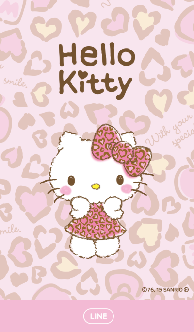 Hello Kitty Pink Leopard