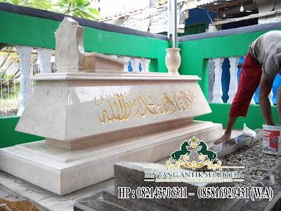 Kijing Makam Marmer Mewah Tulungagung, Contoh Kijing Makam Marmer, Desain Makam Terbaru