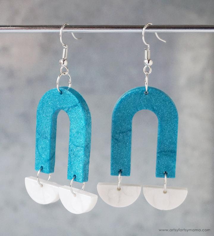 Modern Clay Arch Earrings