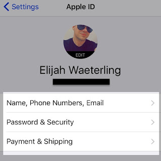 Edit Apple ID
