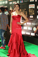 Reetu Varma smiling beauty in Deep Neck Red Gown at IIFA Utsavam Awards 2017  Day 2  Exclusive 26.JPG