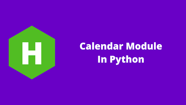 HackerRank Calendar Module in python problem solution