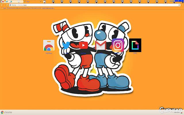 Cuphead Brothers Buy Theme FOR Chrome 2017