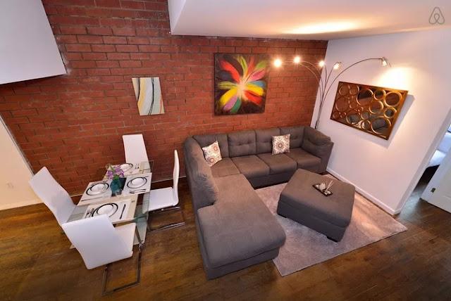 Air BnB West Village Duplex Living Area