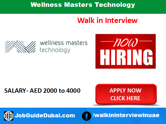 Wellness Masters Technology career for Receptionist and Therapist jobs in Dubai UAE