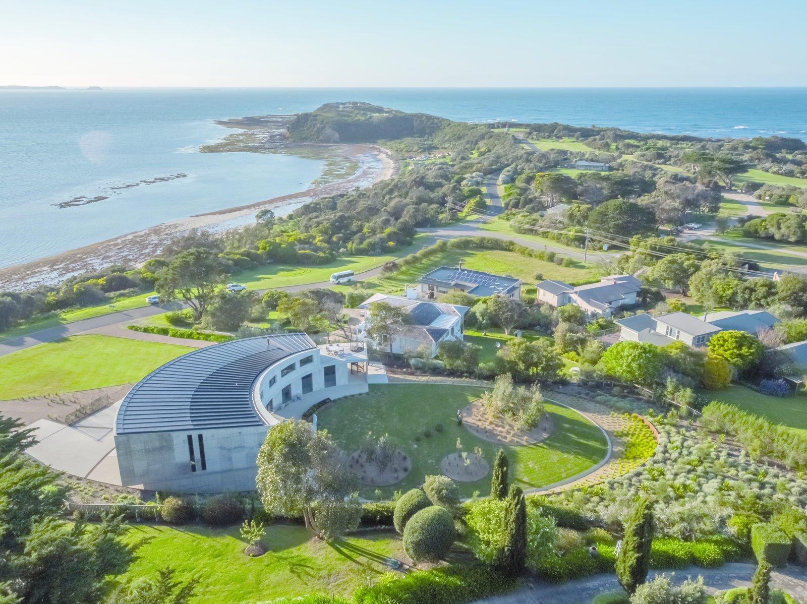 La casa curva sulla costa Australiana