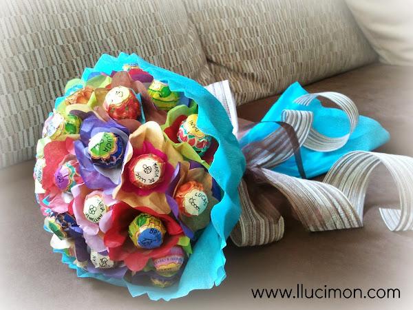 DIY para sorprender: Cómo hacer un ramo de flores con... ¡dulces!