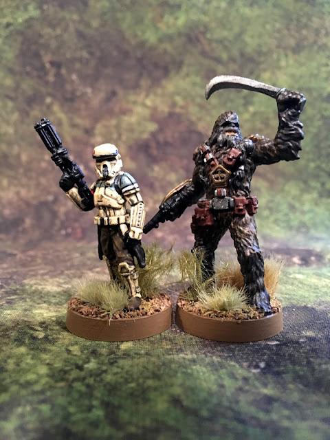 Star Wars Legion Wookie Miniatures Size