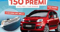 Logo Concorso ''In viaggio'': vinci 150 premi, crociere e Fiat Panda