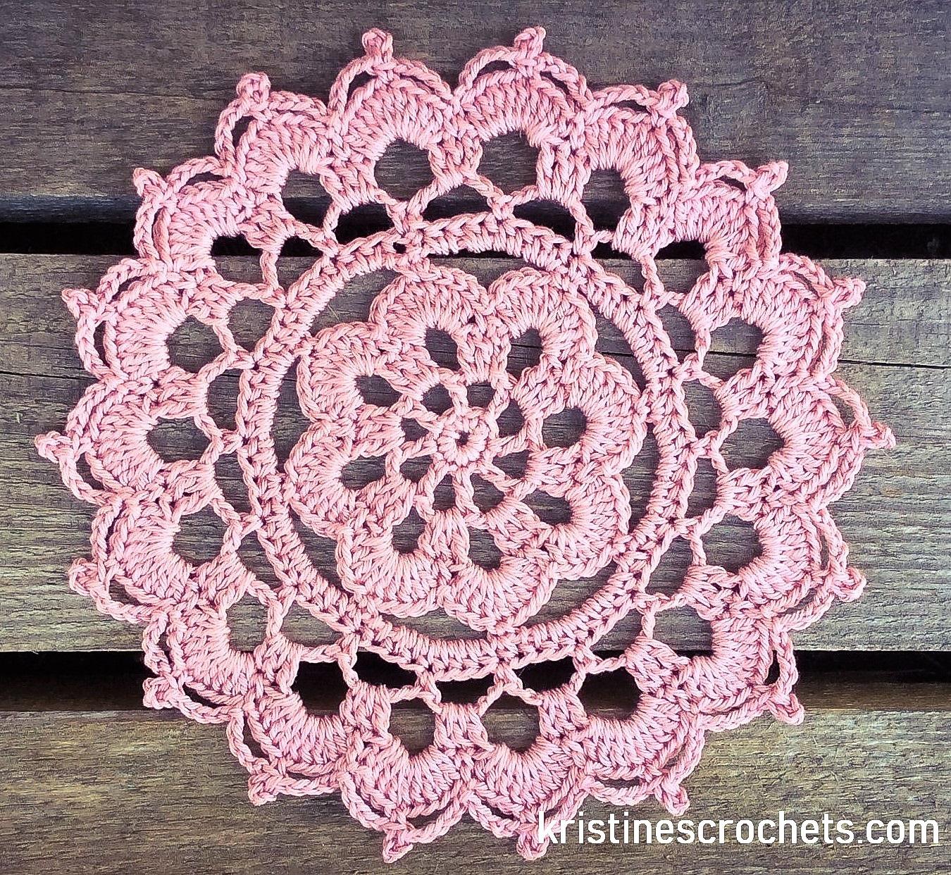 Kristinescrochets Crochet Summer Haze Doily Easy Pattern