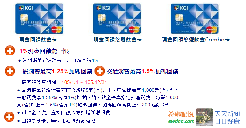 凱基現金回饋鈦金卡滿千最高一般1.25%交通1.5%! @ 符碼記憶