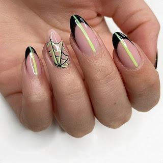 Spider Web Nails Design