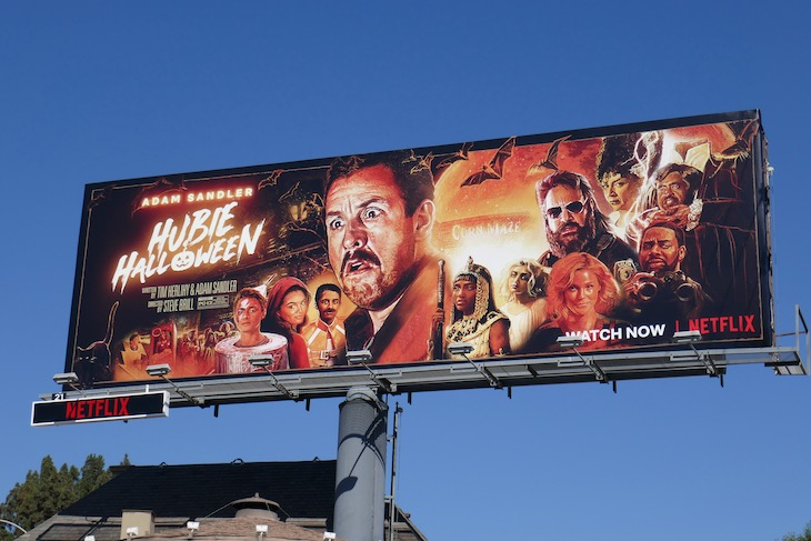 Hubie Halloween movie billboard
