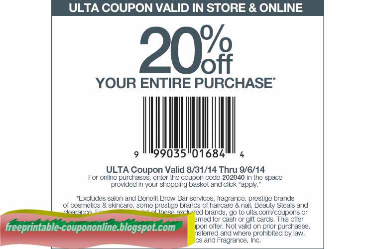 Ulta coupons printable blogspot