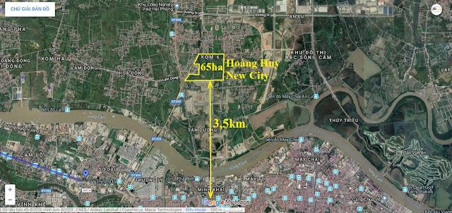 Vị trí Hoàng Huy New City