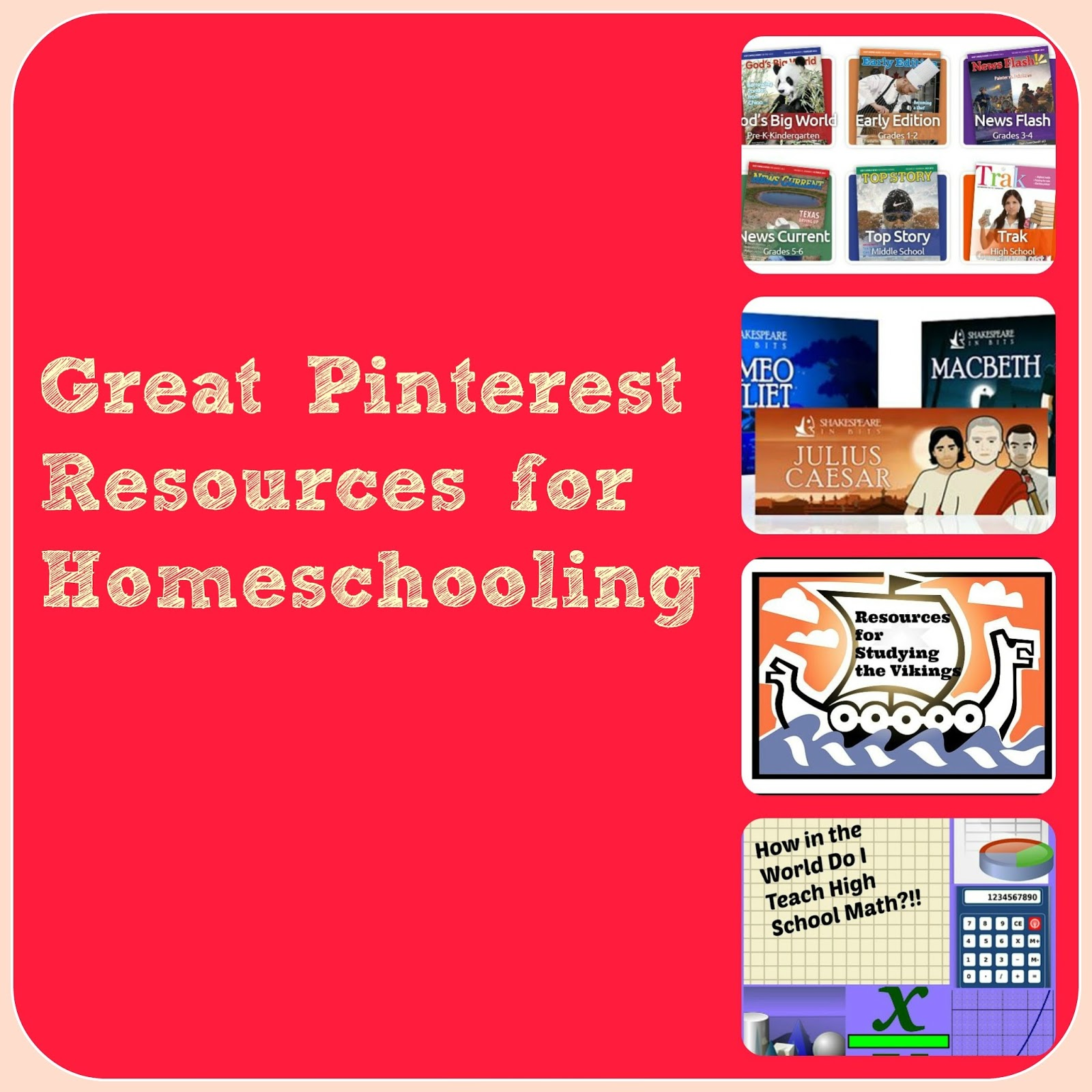 Some Great Pinterest Resources For Homeschooling As We Walk Along