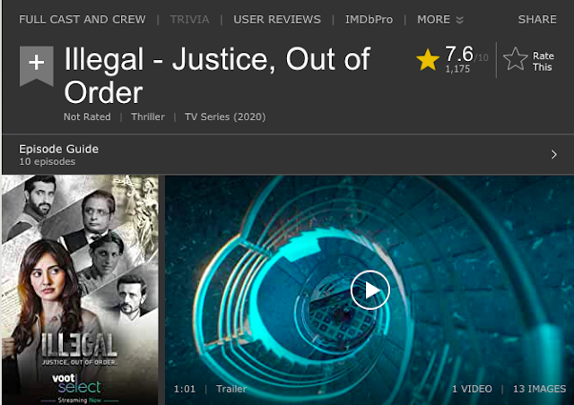 Download Illegal - Justice, Out of Order 2020 (Season 1) Hindi {Voot Select Series} All Episodes WeB-DL 1080p [400MB] ||