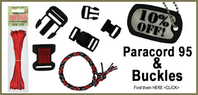 10% off 95 Parachute Cord and Plastic Buckles at ParachuteCordCraft.com