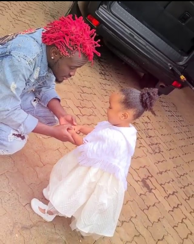 Bahati Having some blast together with his Daughter Heaven Bahati