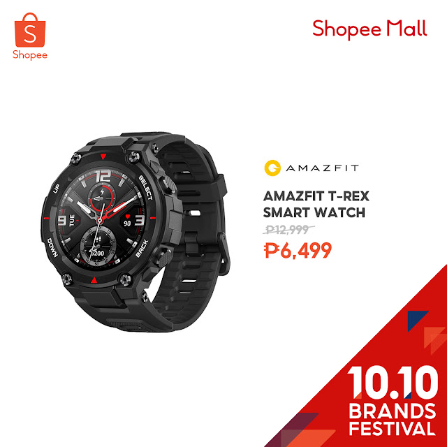 Amazfit T-Rex Smart Watch at 50% Off on Shopee's 10.10 Brands Festival