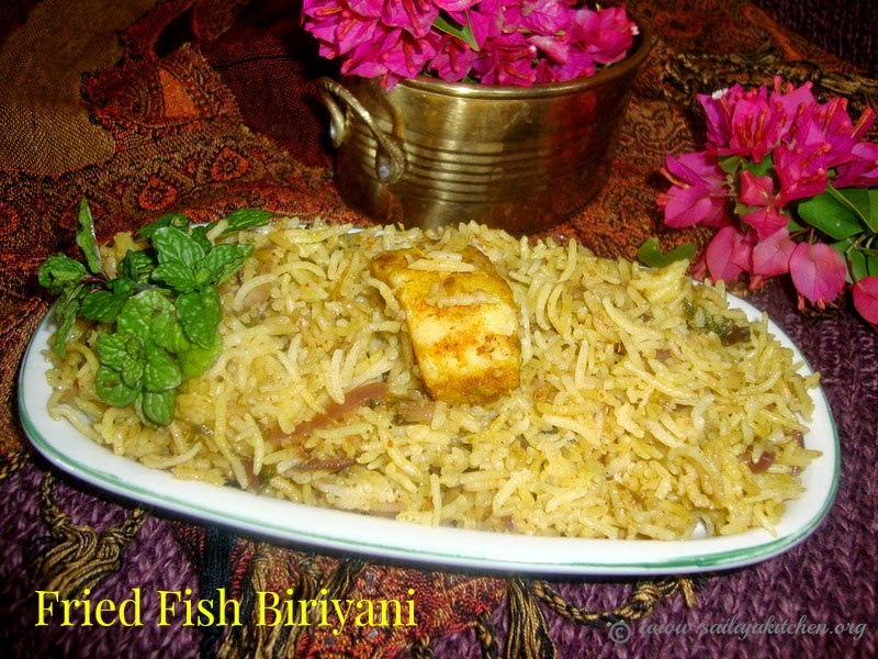 images for Fried Fish Biriyani Recipe / Fish Biriyani Recipe  / Fish Biryani Recipe / Fish Dum Biryani Recipe /  Rice Cooked With Spices And Fish