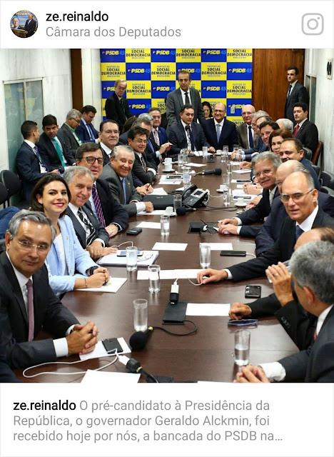 Ex-governador Zé Reinaldo faz acordo político com Geraldo Alckmin para lançar Braide candidato ao governo do Maranhão.