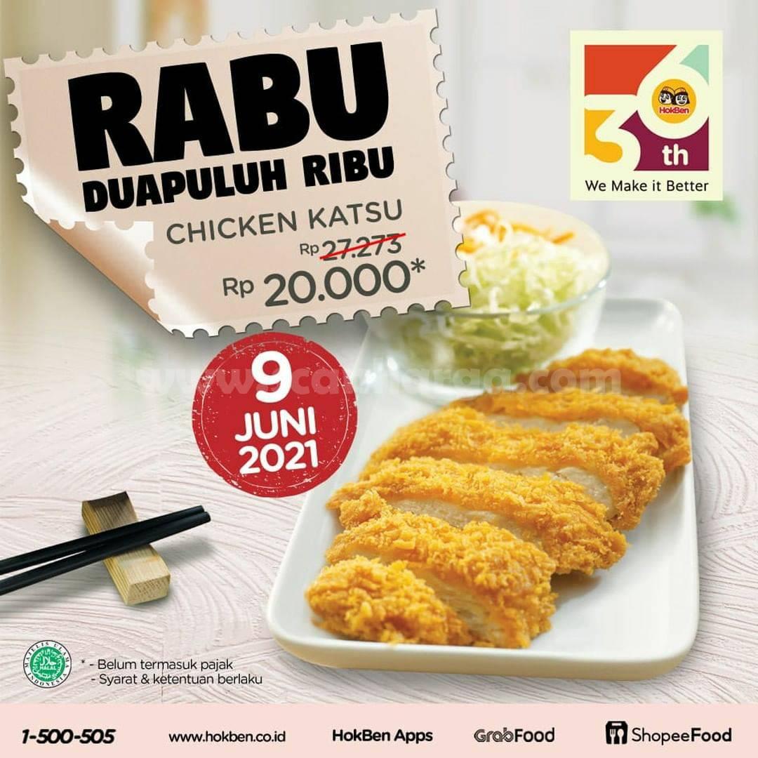 Promo Hokben Rabu Dua Puluh Ribu - Chicken Katsu hanya Rp. 20.000