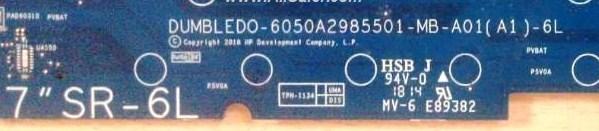 6050a2985501-MB-A01(A1)-6L DUMBLEDO HP 17-CA Series AMD Bios