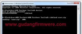 Cara Flash Firmware Asus Zenfone X00AD
