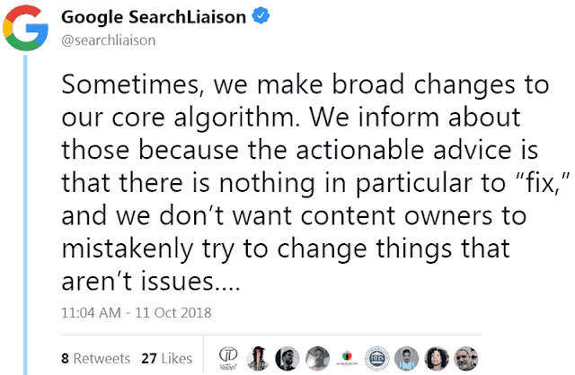 Google Broad Core Algorithm Update - Facts and Recovering Tips