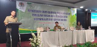 Kepala Balai KSDA Secara Resmi Membuka Pembentukan Forum Kolaborasi Pengelolaan KEE Dan Penyusunan Aksi KEE Koridor Satwa Di Bentang Alam Bukit Tigapuluh Kabupaten Tebo.