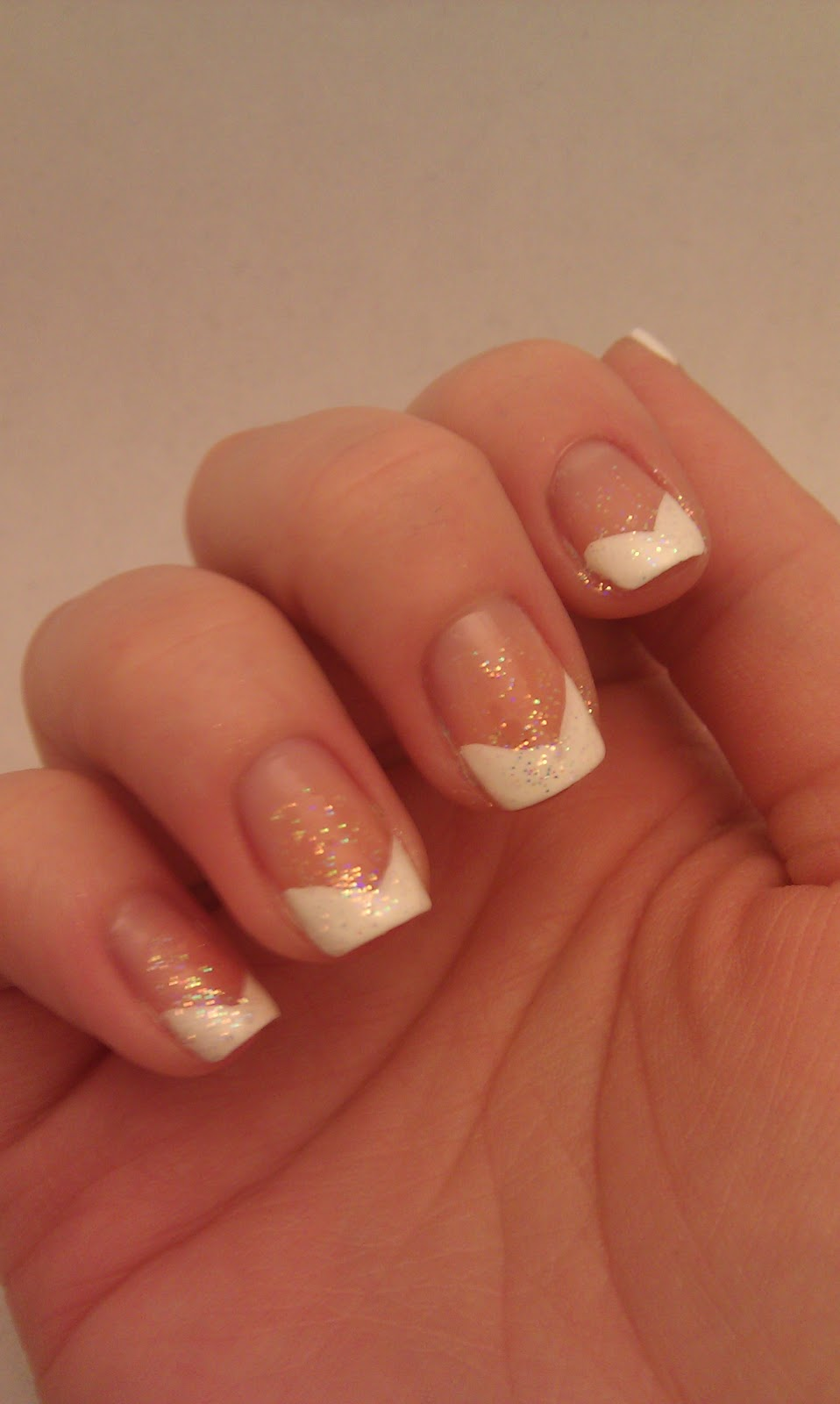 Glitter French Manicure Fade Can You Say Wedding Nails: Let There Be Lacquer: Classic V-French Manicure With Glitter