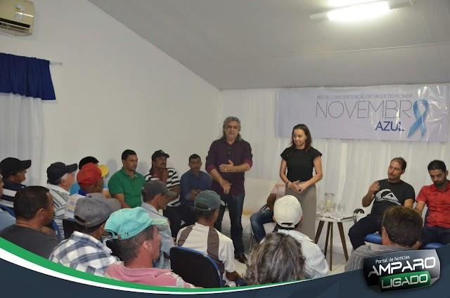 Prefeitura de Amparo realizou ações alusivas ao Novembro Azul durante essa semana