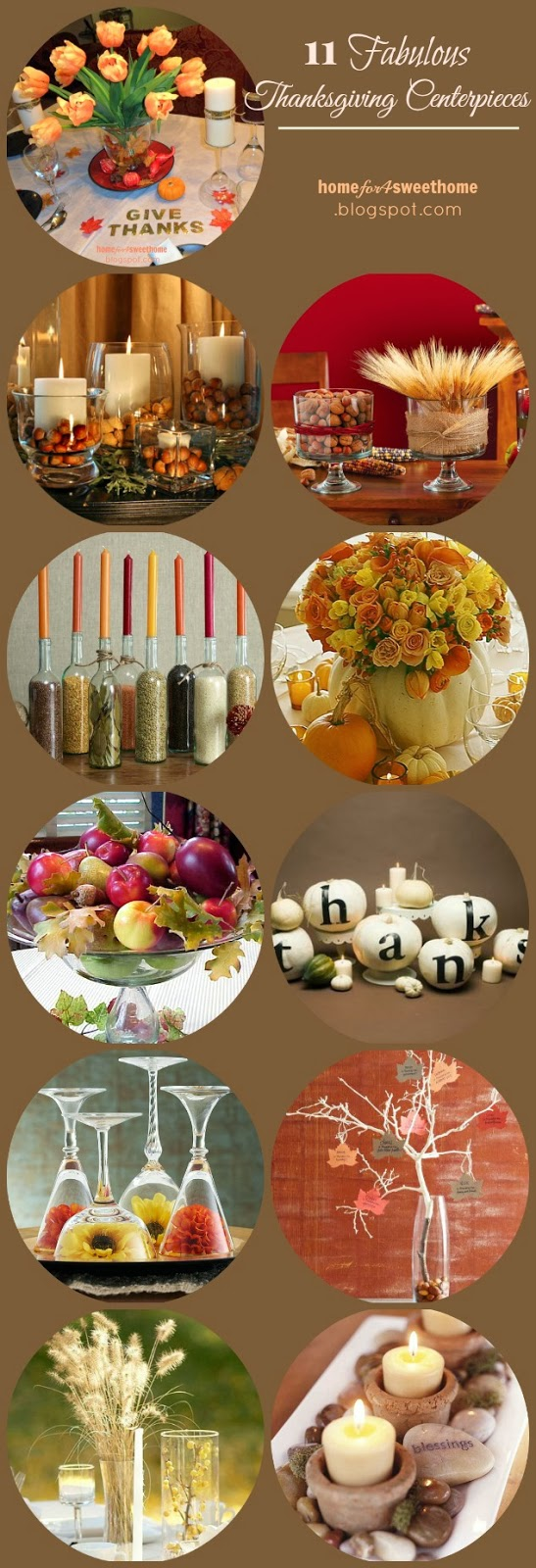 11 Quick And Easy Thanksgiving Centerpieces Homey