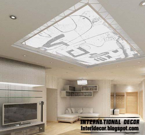 Modern Interior Decoration Living Rooms Ceiling Designs: 10 Unique False Ceiling Modern Designs Interior Living Room