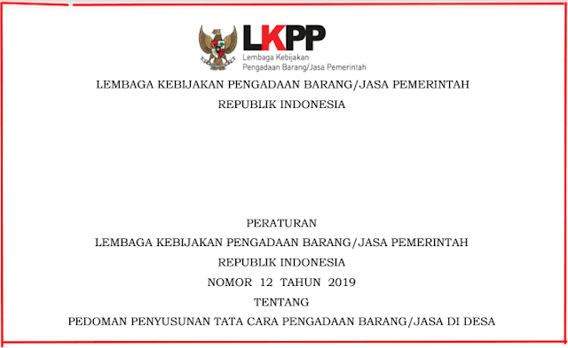 Jasa di Desa Menurut Peraturan LKPP Nomor  Syarat Penyedia Pengadaan Barang/Jasa di Desa Menurut Peraturan LKPP Nomor 12 tahun 2019
