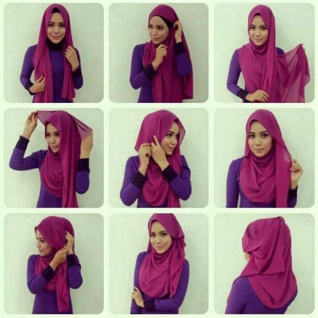 Cara Memakai Hijab Pashmina Yang Cantik