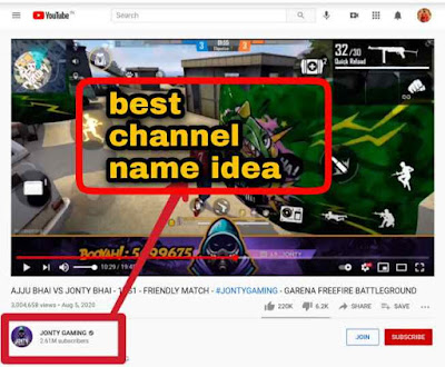 Top YouTube channel name idea free fire